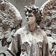 Famiglia Cavaliere Del Francesco Canti Memorial Marker Detail IIi Monumental Cemetery Art Print