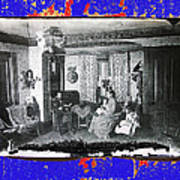 Family At Home Interior Collage Tucson Arizona Circa 1883-2012 Art Print