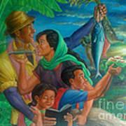 Family Bonding In Bicol Art Print
