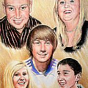 Family Collage Commissions Art Print
