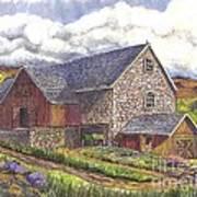 A Scottish Farm  Art Print