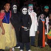 Family Of Ghouls Halloween Party Casa Grande Arizona 2005 Art Print