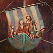 Family Vessel Art Print by Jennifer Croom