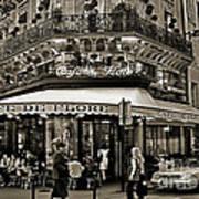 Famous Cafe De Flore - Paris Art Print by Carlos Alkmin