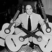 Famous Guitarist Carlos Montoya 1953 Art Print