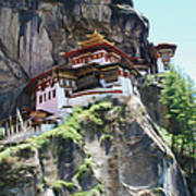 Famous Tigers Nest Monastery Of Bhutan 7 Art Print