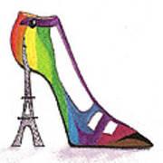 Fancy Parisian Shoe Art Print