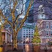 Faneuil Hall Holiday Art Print