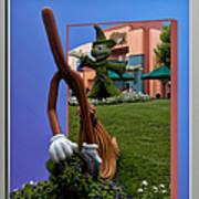 Fantasia Mickey And Broom Floral Walt Disney World Hollywood Studios Art Print