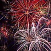 Fantastic Fireworks Art Print