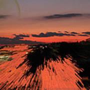 Fantastic Space Sunset Art Print