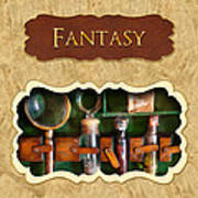 Fantasy Button Art Print by Mike Savad