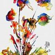 Fantasy Flowers 2 Art Print