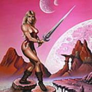 Fantasy Warrior Princess Art Print