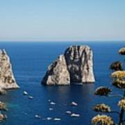 Faraglioni In Capri Art Print