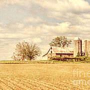 Farm And Fields  Art Print