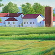 Farm At Willow Creek Art Print