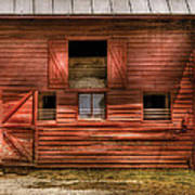 Farm - Barn - Visiting The Farm Art Print by Mike Savad