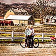 Farm Boys Country Exchange Art Print by Randall Branham