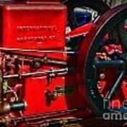 Farm Equipment - International Harvester Feed And Cob Mill Art Print