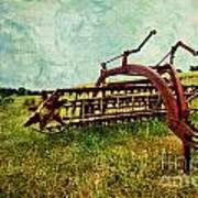 Farm Equipment In A Field Art Print by Amy Cicconi