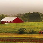 Farm - Farmer - Tilling The Fields Art Print