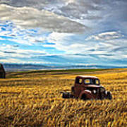 Farm Field Pickup Art Print