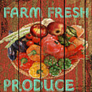 Farm Fresh Produce Art Print