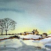 Farm In N.e Yorkshire Art Print