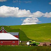 Farm Machinery Art Print by Inge Johnsson