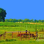 Farm Photo Digital Paint Style Art Print