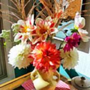 Farm Table Bouquet Art Print