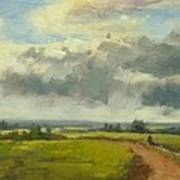 Farm Track Kent Art Print