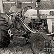 Farmer And His Tractor Art Print