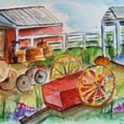 Farmers Backyard Art Print
