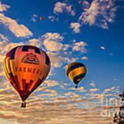 Farmer's Insurance Hot Air Ballon Art Print by Robert Bales