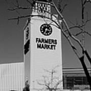 Farmers Market Bw Art Print