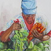 Farmers Market Vendor Print by Sharon Sorrels
