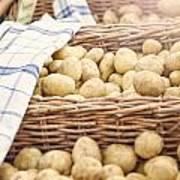 Farmers Potatoes Art Print