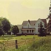 Farmhouse And Landscape Art Print