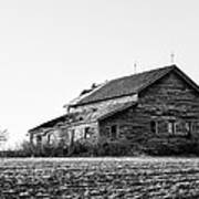 farmhouse in spring - Old Barns Art Print