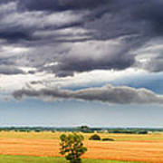 Farmhouse In The Storm Panorama Art Print