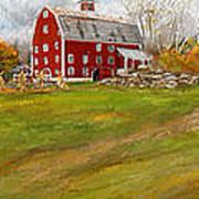 Red Barn Art- Farmhouse Inn At Robinson Farm Art Print