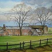 Farming In The Staffordshire Countryside Art Print