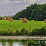 Farming Reflection Art Print