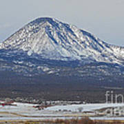Farmland Under The Mountain Print by Meandering Photography