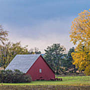 Farmstead With Fall Colors Art Print by Paul Freidlund