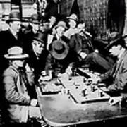 Faro Game Orient Saloon C. 1900 - Arizona Art Print
