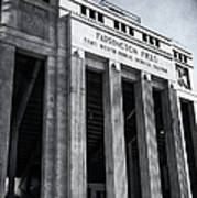 Farrington Field Facade Bw Art Print