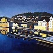 Farsund In Winter Art Print by Janet King